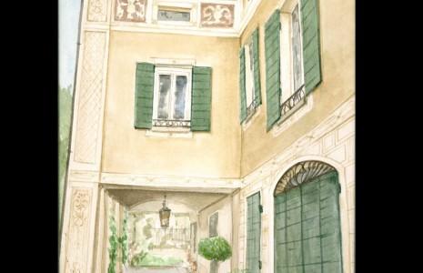 bozzetto proposta intervento per facciata decorata