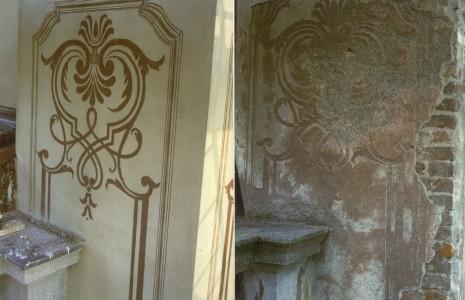 prima e dopo graffito